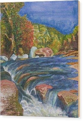 Into Slide Rock Wood Print