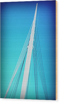 Into The Blue Wood Print