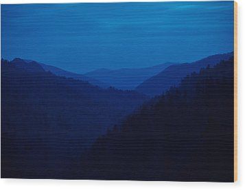 Into The Blue Wood Print by Rich Leighton