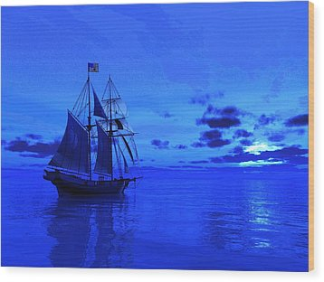 Into The Blue Wood Print by Timothy McPherson