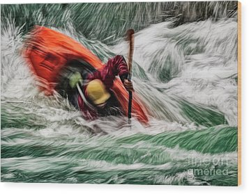 Wood Print featuring the photograph Into The Drink by Brad Allen Fine Art