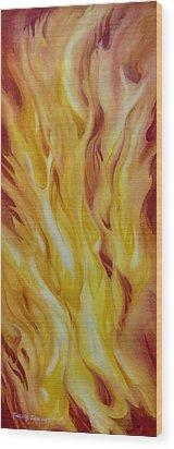 Into-the-fire-ii Wood Print by Nancy Newman