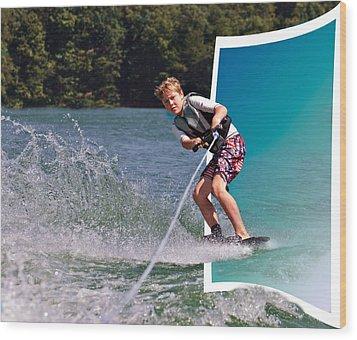 Into The Frame Wood Print by Susan Leggett