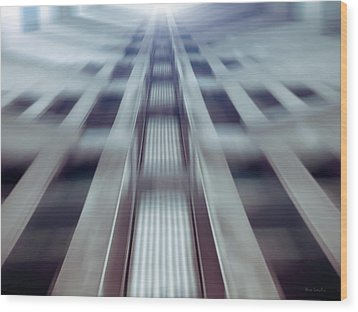 Into The Future Wood Print by Wim Lanclus