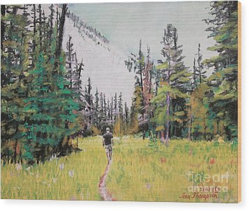 Wood Print featuring the painting Into The Hike by Terri Thompson