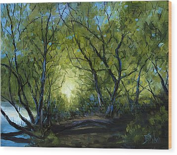 Wood Print featuring the painting Into The Light by Billie Colson