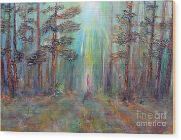 Into The Light Wood Print by Claire Bull