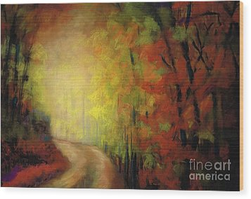 Into The Light Wood Print by Frances Marino