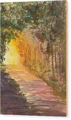 Into The Light Wood Print by Frank SantAgata