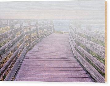 Into The Mist Wood Print by Swank Photography