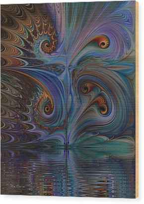 Wood Print featuring the digital art Into The Mystic by Kim Redd