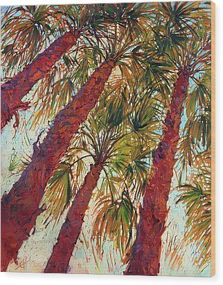 Into The Palms - Diptych Left Wood Print by Erin Hanson