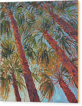 Into The Palms - Diptych Right Panel Wood Print by Erin Hanson