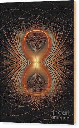 Into The Spider Den Wood Print by Deborah Benoit