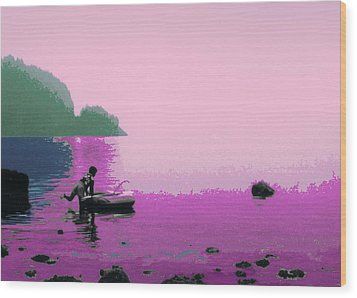 Wood Print featuring the photograph Into The Stillness - Pink by Lyle Crump