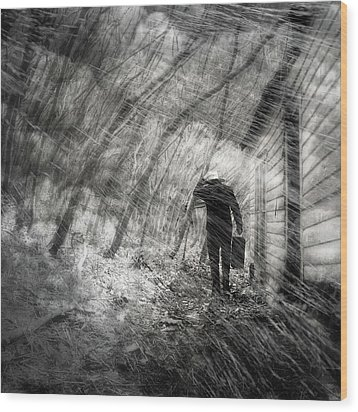 Wood Print featuring the photograph Into The Storm by Gray  Artus