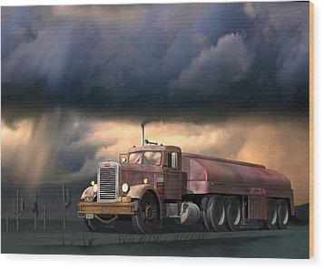 Into The Storm Wood Print by Stuart Swartz