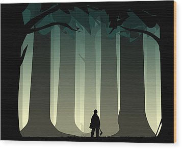 Into The Woods Wood Print by Nestor PS