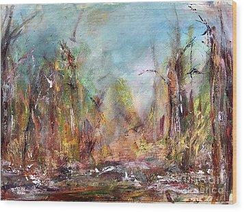 Into Those Woods Wood Print