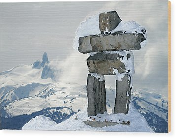 Inukchuk Whistler Wood Print by Pierre Leclerc Photography
