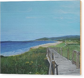 Inverness Beach Wood Print by Betty-Anne McDonald