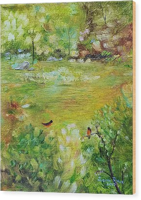 Wood Print featuring the painting Invincible Spring by Judith Rhue