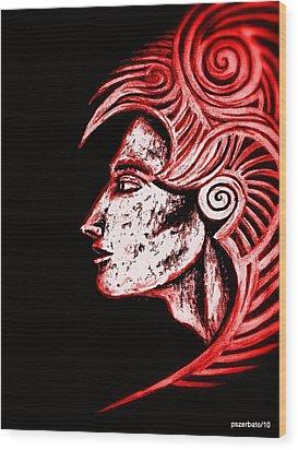 Invulnerability Of The Subconscious Wood Print by Paulo Zerbato