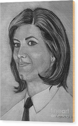 Ioanna Wood Print by Kostas Koutsoukanidis
