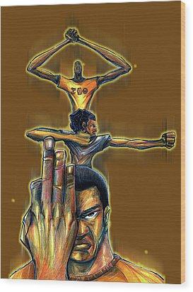 Iota Phi Theta Wood Print