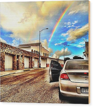 #iphone # Rainbow Wood Print by Estefania Leon