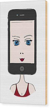 iPhone Wood Print by Frank Tschakert
