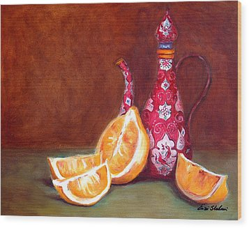 Iranian Lemons Wood Print