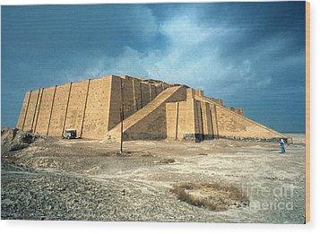 Iraq: Ziggurat In Ur Wood Print by Granger