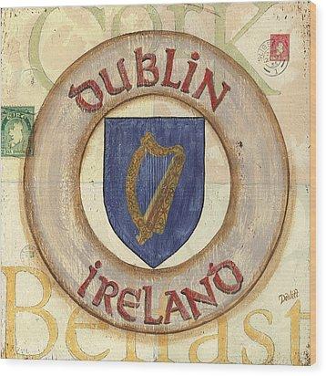 Ireland Coat Of Arms Wood Print by Debbie DeWitt
