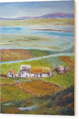 Ireland In Fall Wood Print by Lisa Boyd