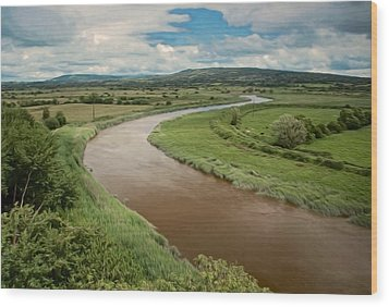 Ireland River Wood Print
