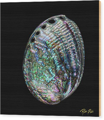Wood Print featuring the photograph Iridescence On The Half-shell by Rikk Flohr
