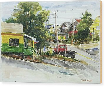 Irie Eats, Provincetown Wood Print by Peter Salwen