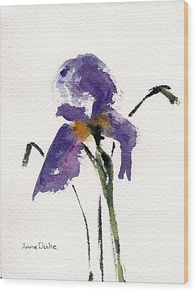 Wood Print featuring the painting Iris  by Anne Duke