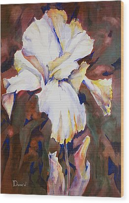 Iris Wood Print by Bob Duncan
