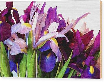 Iris Bouquet Wood Print