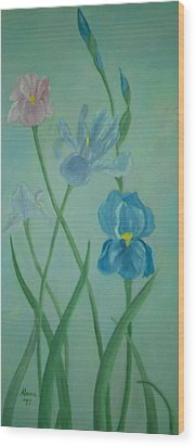 Iris Dreams Wood Print by Alanna Hug-McAnnally