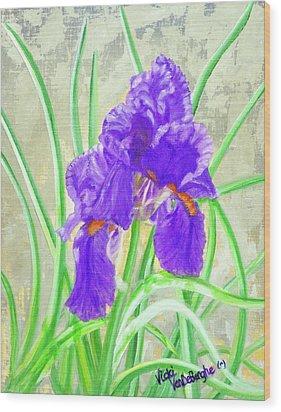 Iris Hope Wood Print