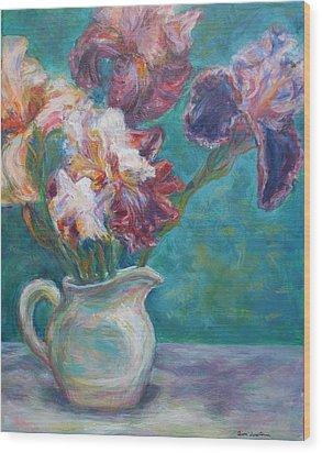 Iris Medley - Original Impressionist Painting Wood Print by Quin Sweetman