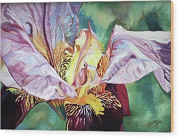 Iris Passion 1993 Wood Print