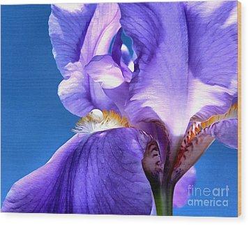 Iris Princess Wood Print