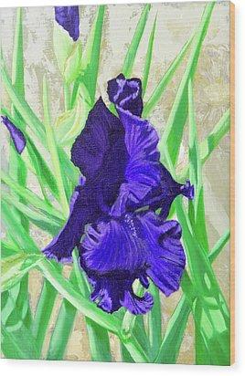 Iris Royalty Wood Print