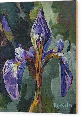 Iris Snow Wood Print