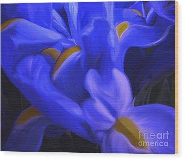 Iris Sparkle Wood Print