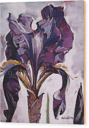 Iris Spring Wood Print